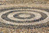 Costruzione progettazione cerchi concentrici di pietra — Foto Stock