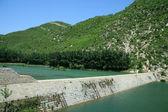 Reservoir dams — Stock Photo
