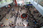 La escena del aeropuerto t3 construcción en beijing — Foto de Stock