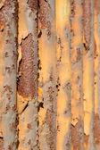 Rusty waveform iron plate — Stock Photo