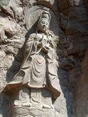Stone carving bodhisattva, Wuyi mountain, Fujian province, China — Stock Photo