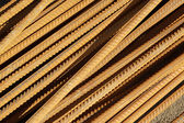 Twisted steel construction materials in a construction site — Stock Photo
