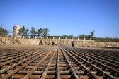 Reinforcement fabric construction sit — Stock Photo