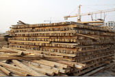 Wooden construction materials — Stock Photo