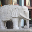 Stock Photo: Stone carving handicraft elephants