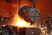 Red hot molten steel — Stock Photo