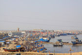 Ships in the fishing port terminal — Stock Photo
