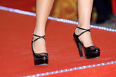 Woman's leg with high heeled shoes — 图库照片