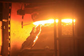 Steelmaking furnace — Stock Photo