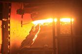 Steelmaking furnace — Stock Photo
