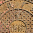 Stock Photo: City manhole covers