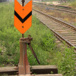 Railway rail switch — Stockfoto