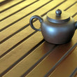 图库照片: Zishteapot on desk