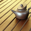 Zisha teapot on the desk — Stock Photo