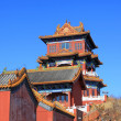 Temple building under the blue sky — Foto Stock