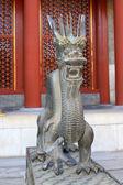 Metal dragon sculpture in the Summer Palace, Beijing — ストック写真