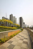 High building and the surrounding environment north china — Stock Photo