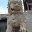 Stone lion, ancient Chinese traditional arts and crafts — Stock Photo #24336281