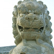 Stone lion, ancient Chinese traditional arts and crafts — Stock Photo