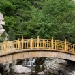 Wooden bridge in a scenic area, North China — Stock Photo