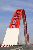 Spectacular bridge building landscape, north china — Stock Photo