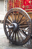 Wooden wheel in Phoenix Town, china — Stock Photo
