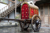 Wooden wagon in a park in the Phoenix Town — Stock Photo