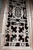 Carved window frames in the Phoenix Town — Stock Photo