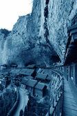 Temple architecture landscape on the hillside, in a scenic area, — Stockfoto