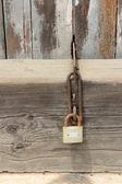 Vintage door lock in a house — Stock Photo