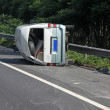 Stock Photo: Traffic accident vehicle on Expressway