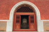 神道馆门,中国古建筑景观 — 图库照片