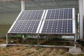Solar water heaters — Stock Photo