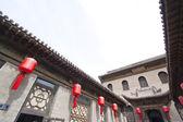 Pátio de estilo arquitectónico tradicional chinesa, com a prot — Fotografia Stock