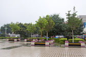 Trees and landscape architecture in a park, north china — Stock Photo