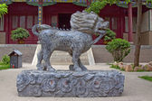 Exquisite stone carvings water faucet in a temple, North China — Stock Photo