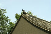Roof in a temple, antique buildings, north china — 图库照片