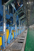 Paper machinery equipment in a factory — Stock Photo