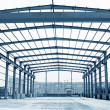 Stock Photo: Steel structure framework
