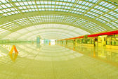 Beijing capital international airport construction landscape and — Stock Photo