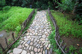 Stone paved roads — Stock Photo