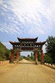 Ancient Chinese folk custom buildings under the blue sky — Stock Photo