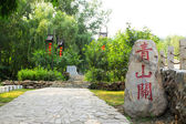 Green trees and stone — 图库照片