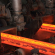 Stock Photo: High temperature steel ingots