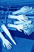 Linha de produção de luvas acrilonitrila butadieno — Fotografia Stock