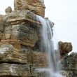 Waterfall in a geological park in China — Stock Photo