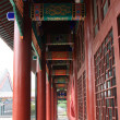 Colored drawing or pattern corridor, ancient Chinese traditional — Stock Photo