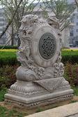 древние китайские каменном здании стиля — Стоковое фото