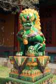 Lion sculpture in a temple — Stock Photo