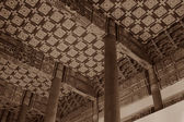 Chinese ancient temples interior architecture — Stock Photo
